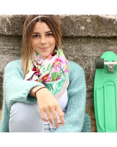 Gilet en tricot Céladon et foulard Balte écru au Skatepark